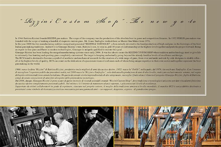 catalogo rizzini custom shop